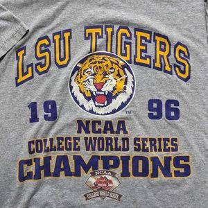 lee sport Shirts - Vintage 1996 LSU NCAA T-shirt